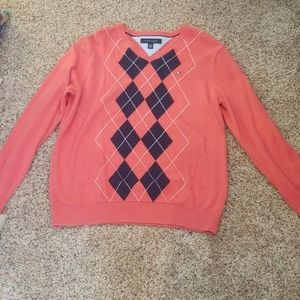 Mens Tommy Hilfiger V neck sweater.